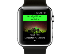 AuroraWatch UK Apple Watch